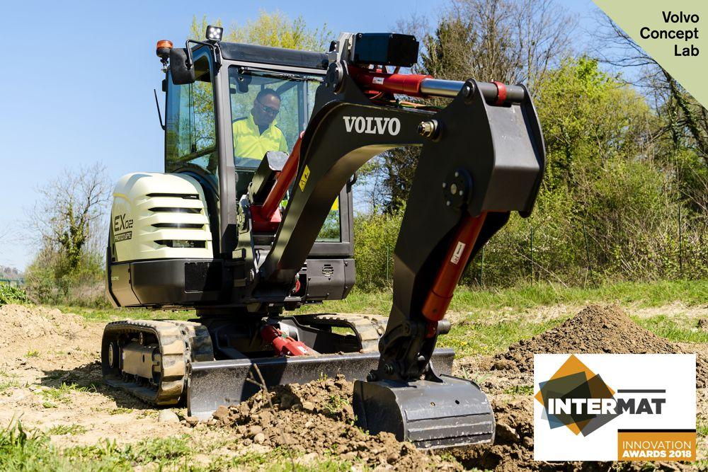 VolvoCE electric excavator prototype wins Intermat Innovation Award