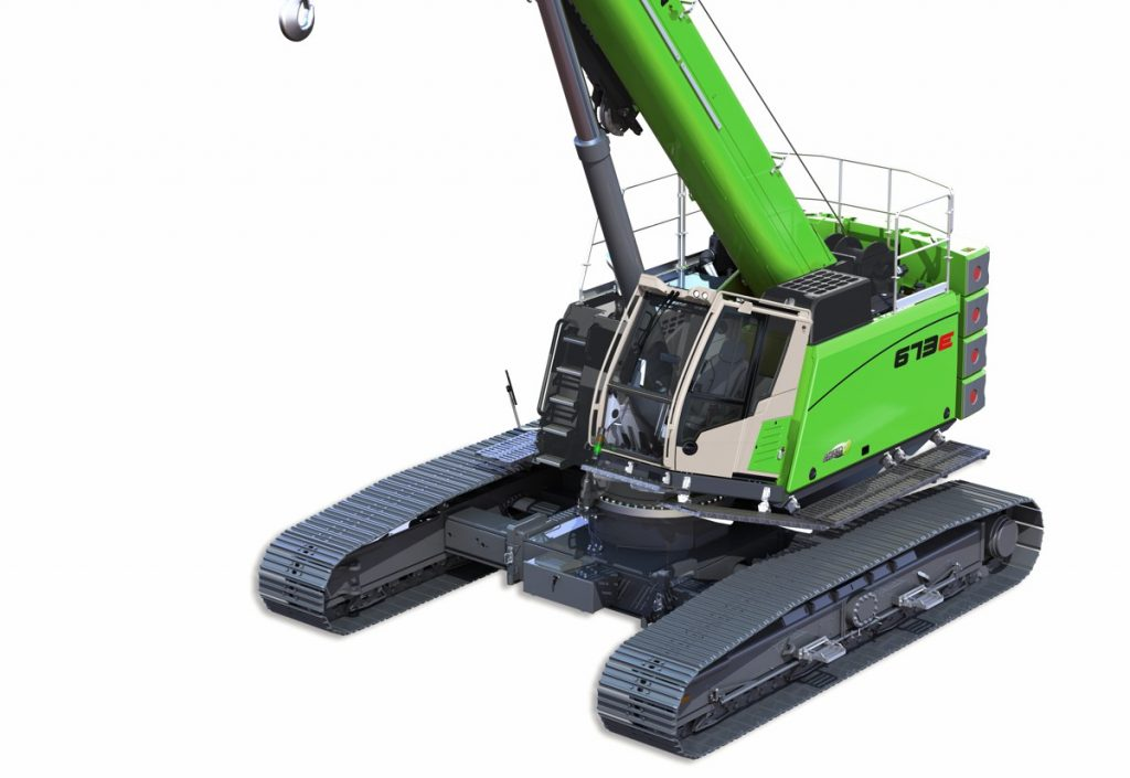 SENNEBOGEN 673 R-HD E-series updated with the successful 70 tonne telescopic crane
