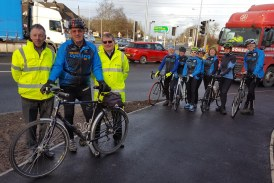 Cyclists celebrate Highways England £1.1m junction improvements in Ellesmere Port