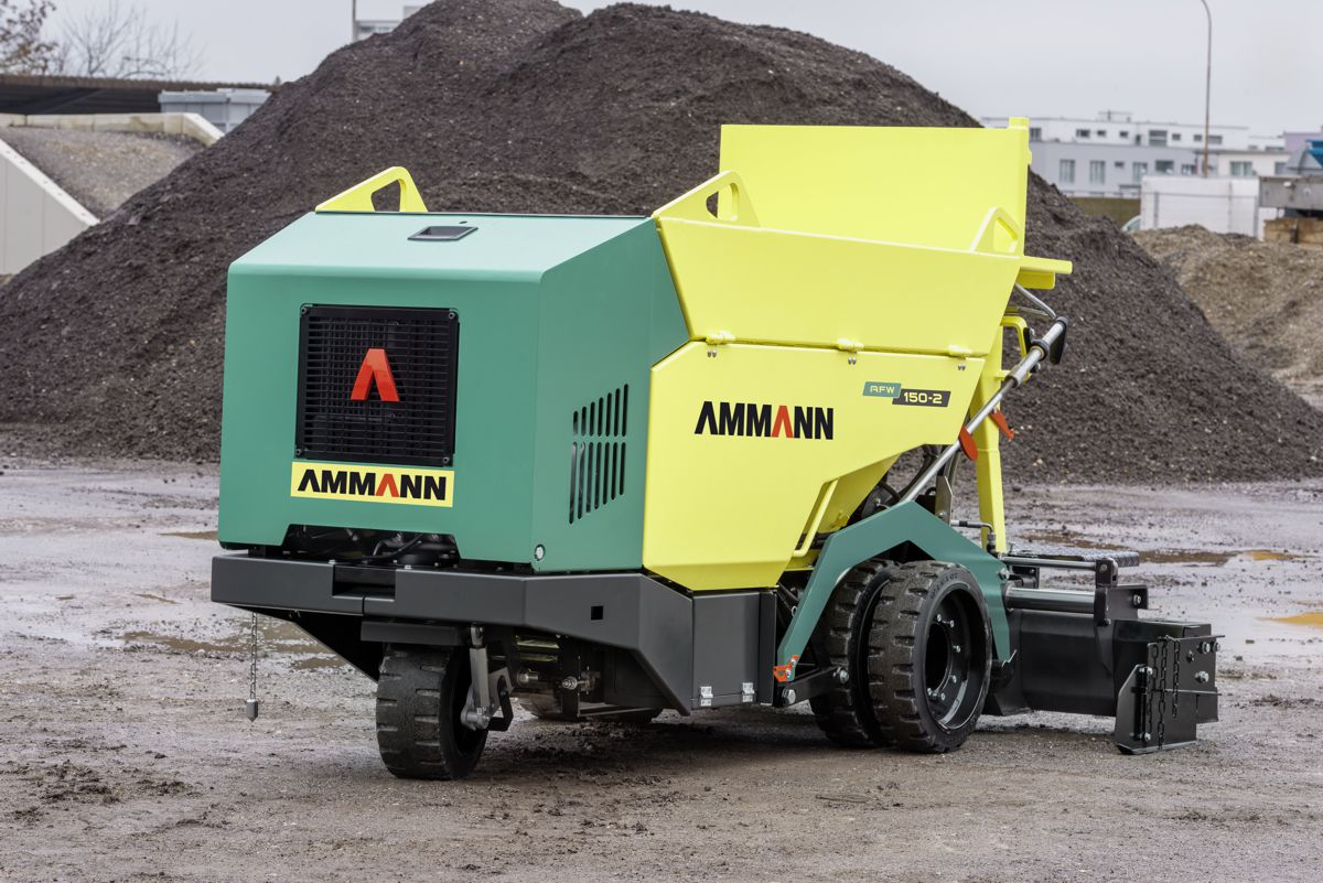 Ammann releases new AFW 150-2 Mini Paver for bike lanes and walkways