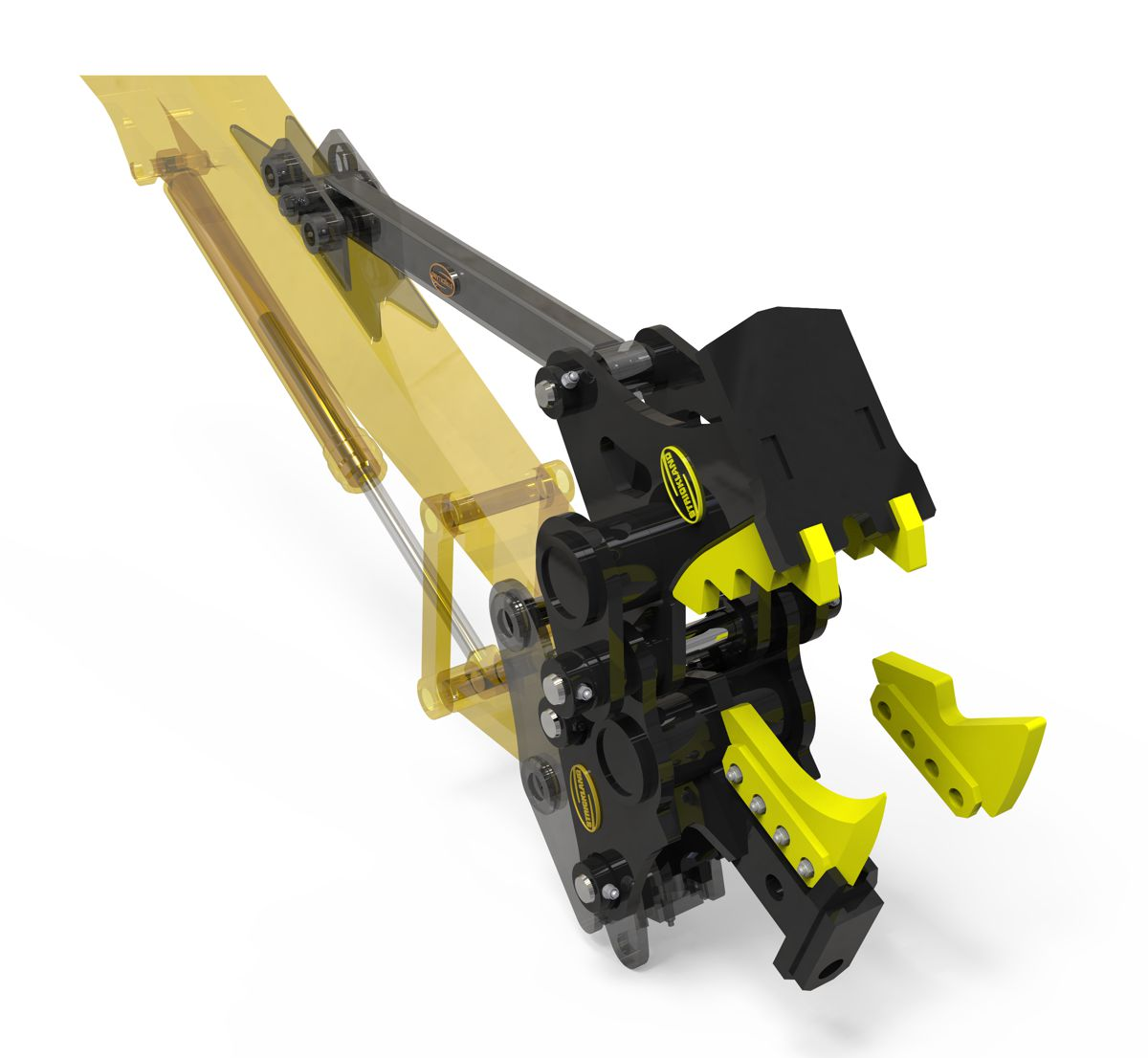 Strickland launch multi-function concrete pulveriser and tree stump cracker