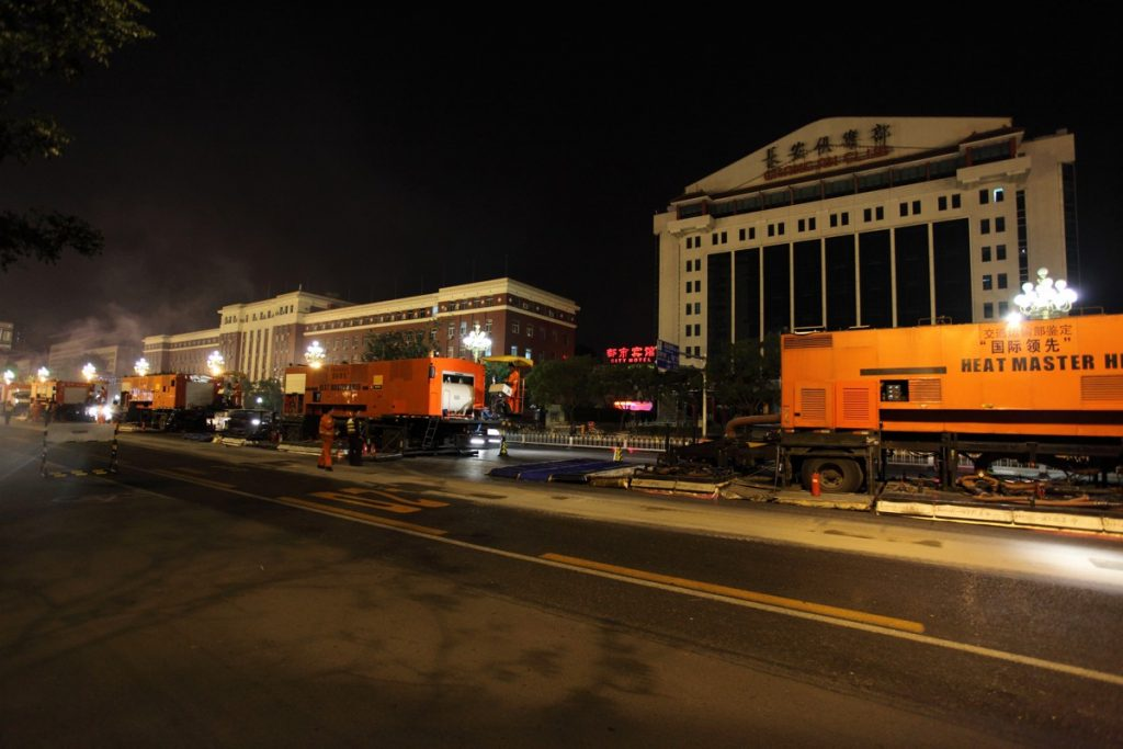 Hot-In-Place Recycling for Beijing's Chang'An Avenue