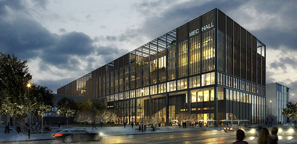 A digital impression of the completed Manchester Engineering Campus Development