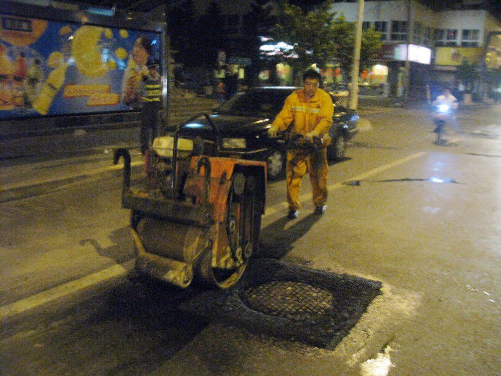 Repair using Freetech Patching Vehicle
