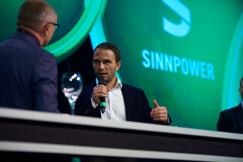 Dr.-Ing. Philipp Sinn representing his company at Next Economy Awards 2015