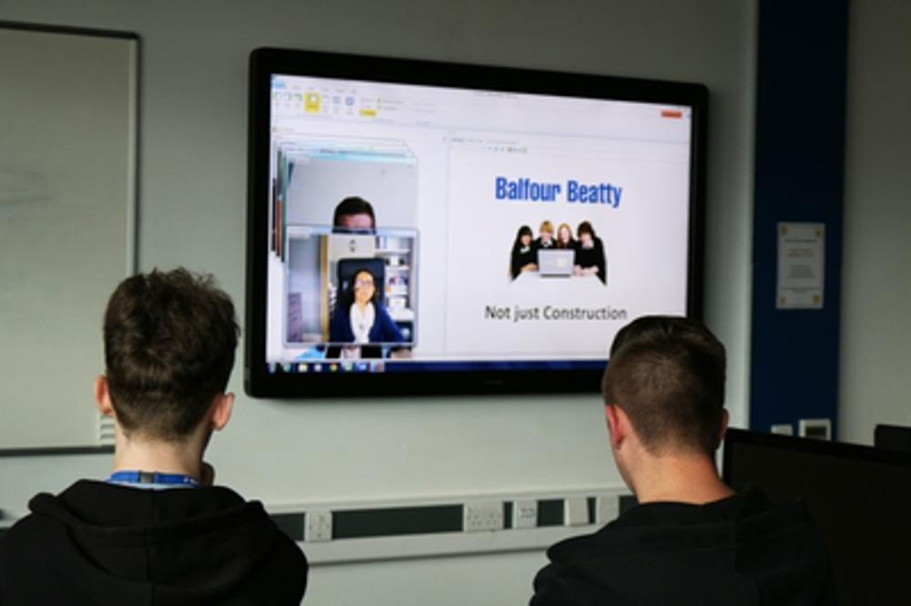 Bolton Sixth Form students engaged in Balfour Beatty presentation