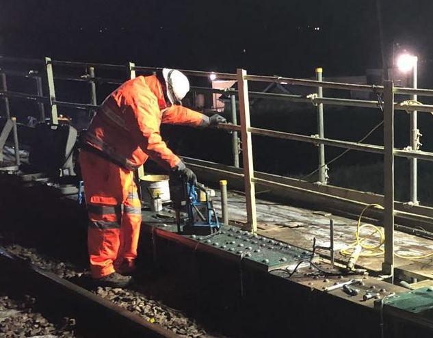 Bridge work Ely to Kings Lynn night