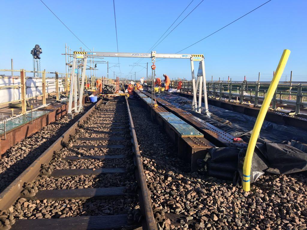 Bridge work between Ely and Kings Lynn