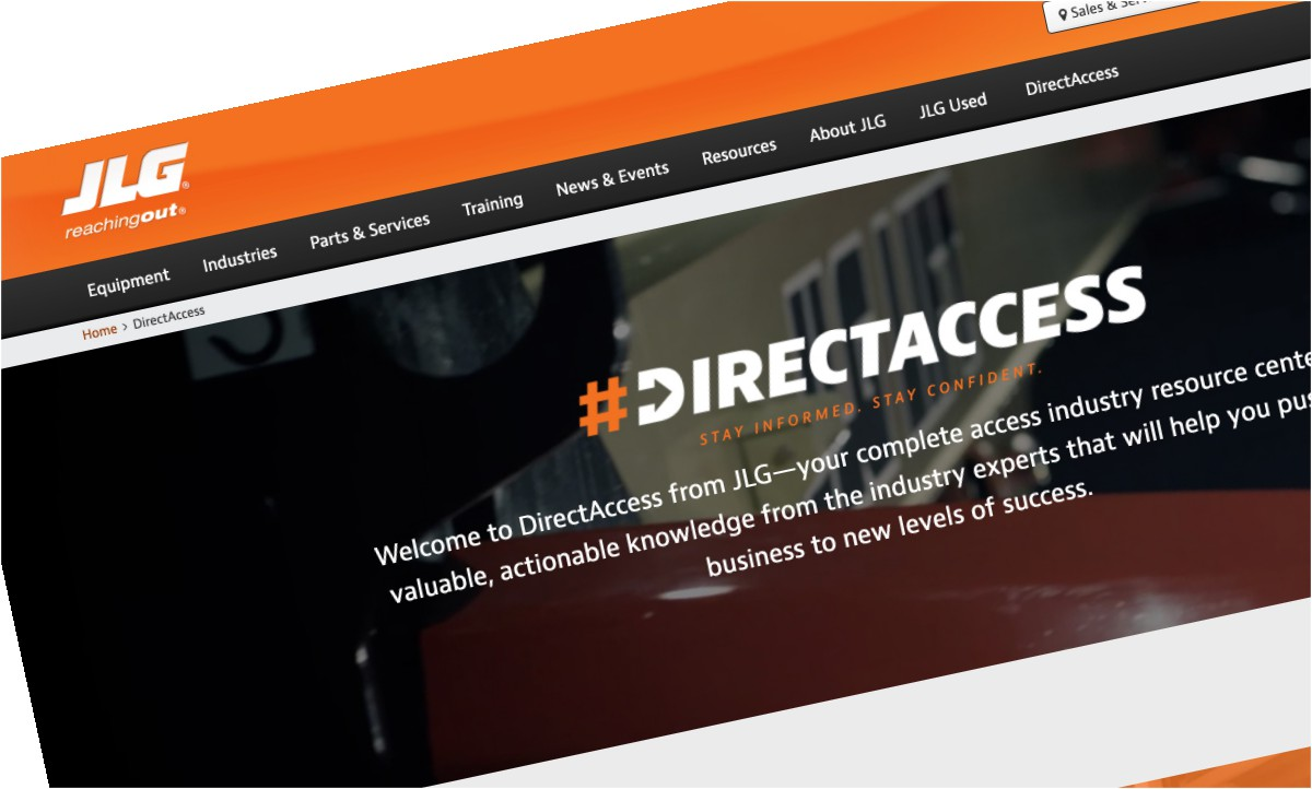 JLG Industries launches digital resource centre DIRECTACCESS