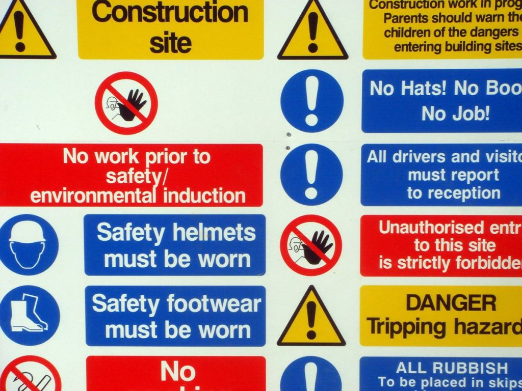Health and Safety Sign - Photo by Everyday Life Modern