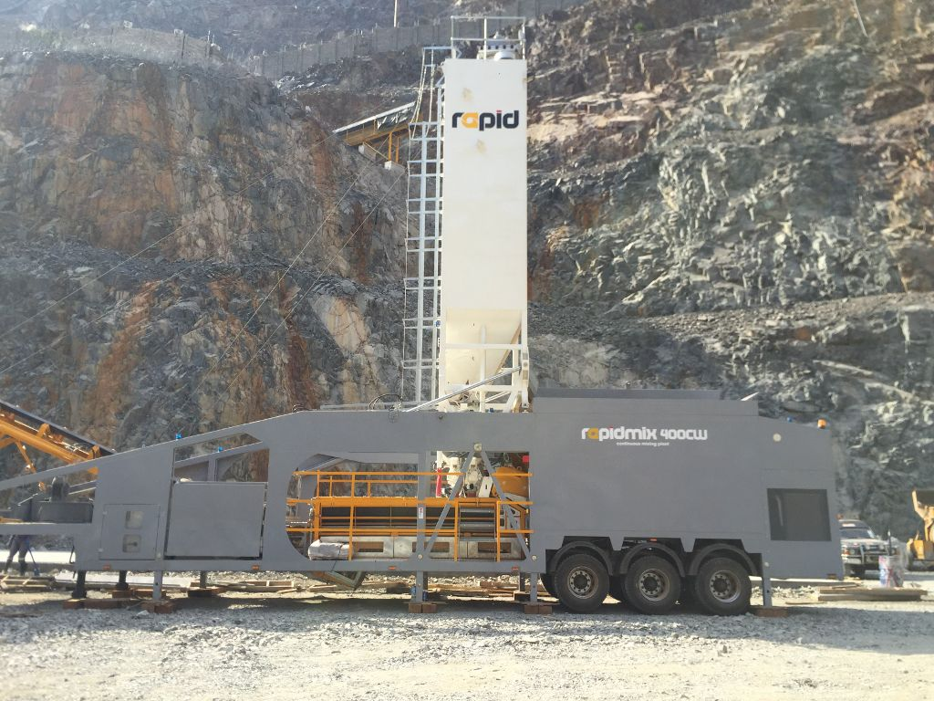 Rapid International has recently supplied Kasco Construction Ltd (Mwanza, Tanzania) with a new Rapidmix mobile continuous concrete mixing plant for production of mine backfill within a mine in the North Mara region of Tanzania.