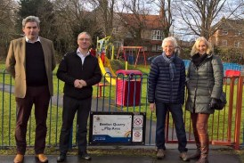 Old road surface paves the way for local park upgrades