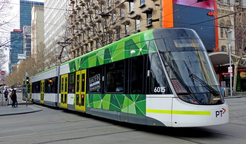 Melbourne Bombardier Tram - Photo by Bernard Spragg