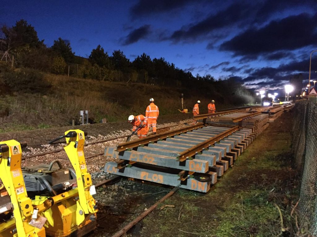 NYL New track panels ready for install