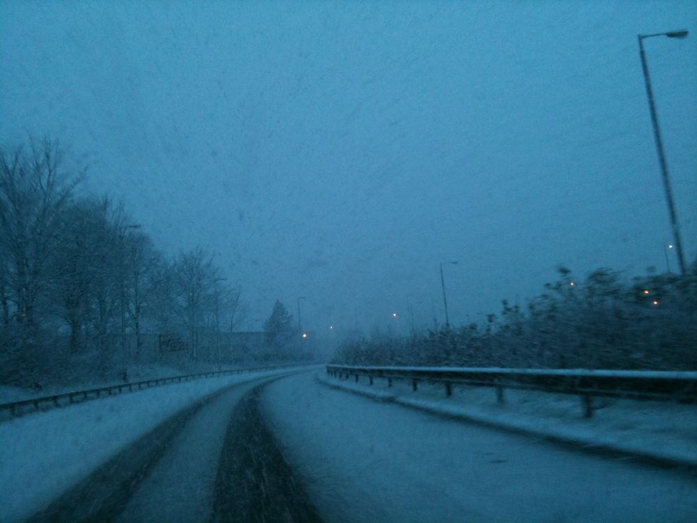 Snowy Motorway - Photo by John Dunsmore