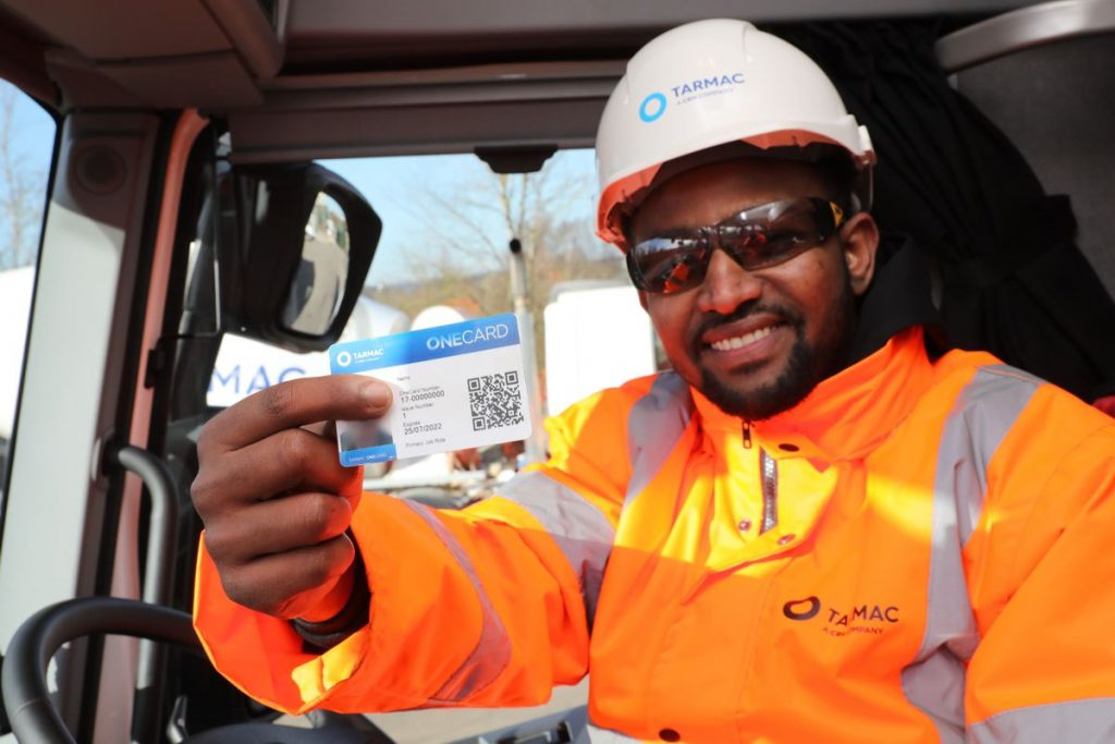 Tarmac introduces Smart Cards to drive HGV fleet safety