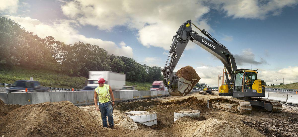 Volvo debuts 35 ton ECR355E short swing crawler excavator