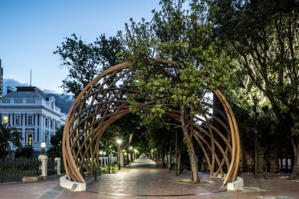 "The Arch for Arch stands as a tribute to the human rights activist and Nobel Peace Prize Laureate Archbishop Desmond Tutu, affectionately known as ""Arch"" by fellow South Africans, as well as a monument to peace and democracy."