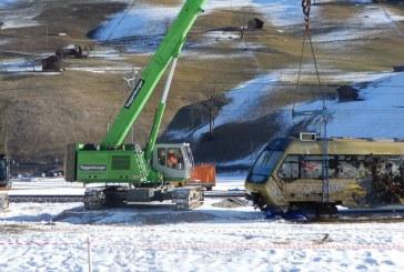 SENNEBOGEN telescopic crane to the rescue of derailed train in Switzerland