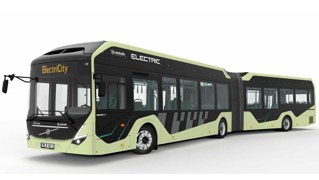 Volvo Electric articulated buses being tested in Sweden