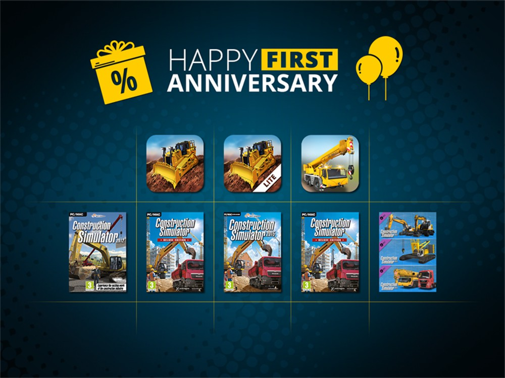Construction Simulator 2 celebrates first anniversary