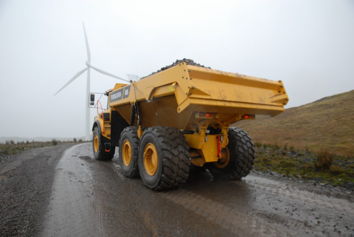 Brace of Volvo A30G articulated haulers heads for Argyll