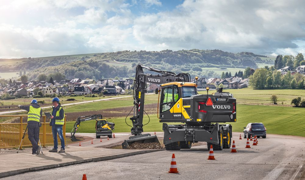 Volvo introduces three new wheeled excavator models