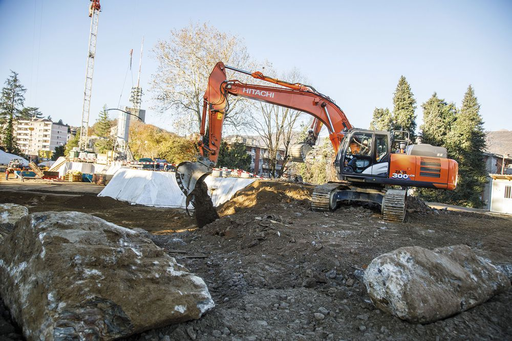 Hitachi excavator proves ideal for prestigious earthmoving project in Switzerland