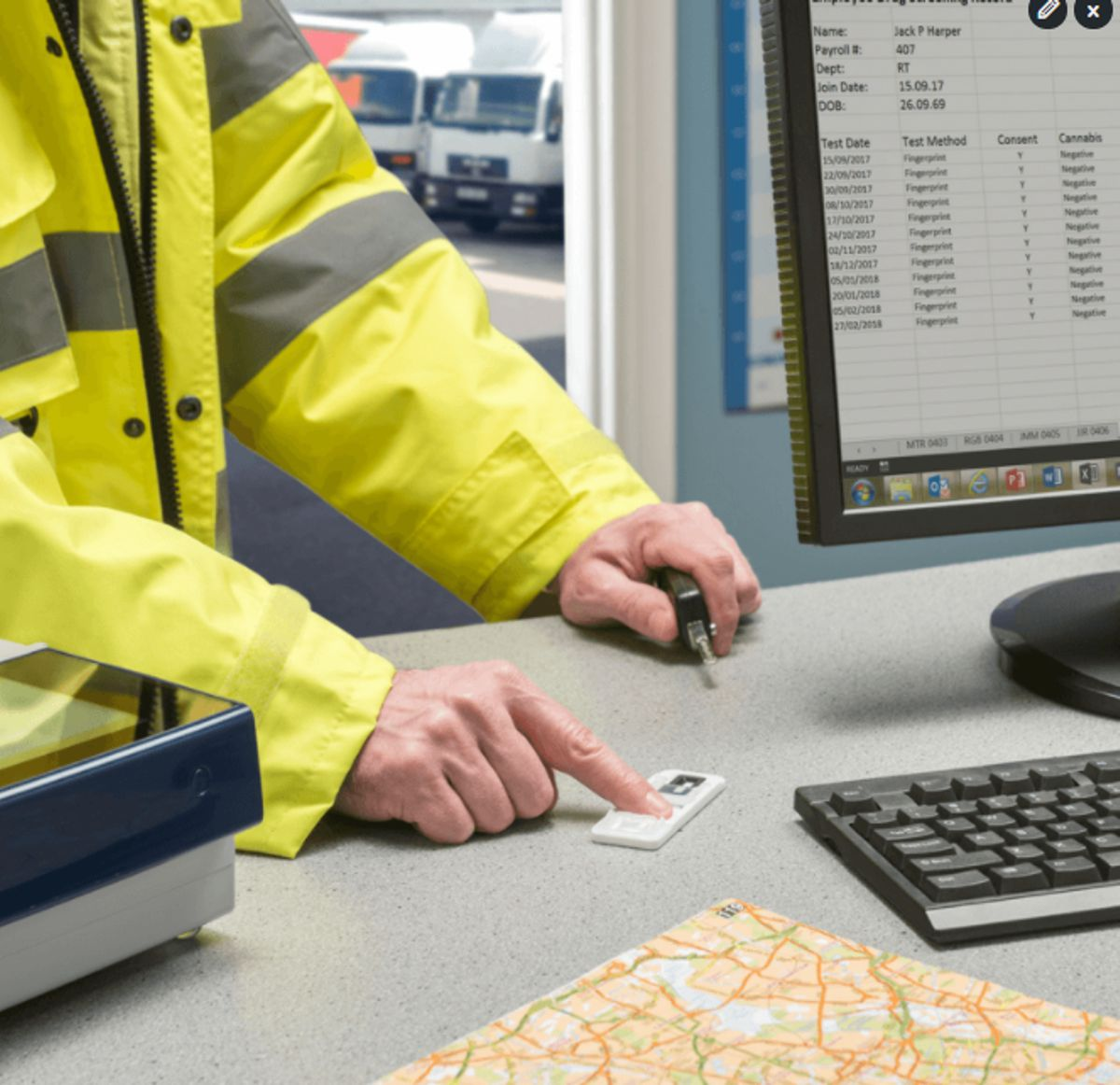 Fingerprint drug testing for Transport & Logistics