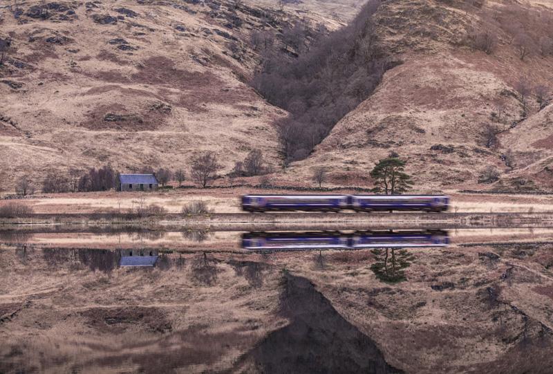 Mallaig to Glasgow Sprinter, Loch Eilt, West Highland Line, Scotland