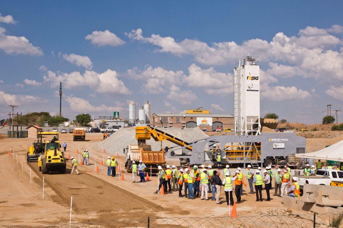 KwaMhlanga doubles roadwork production with Rapidmix Mobile Continuous Concrete Plant