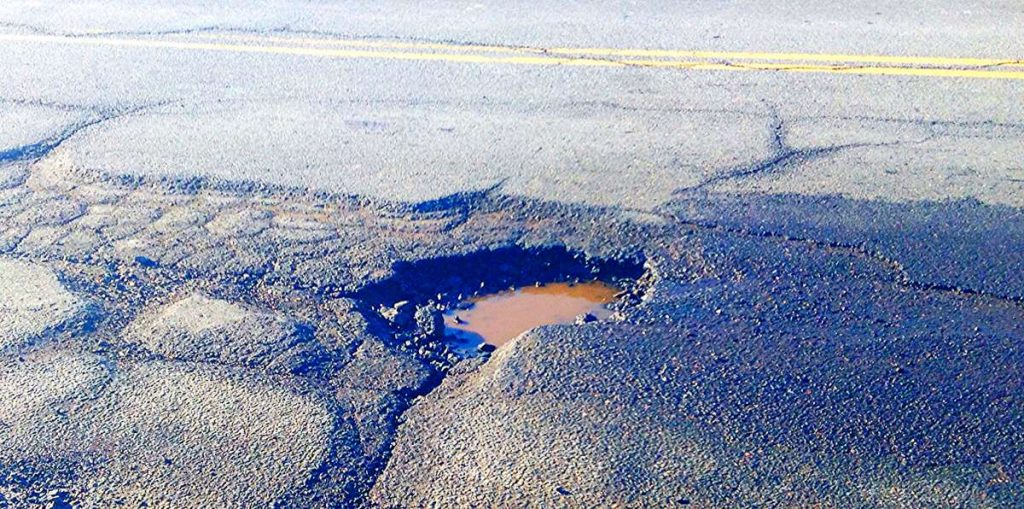 Pothole - Photo by Mike Mozart
