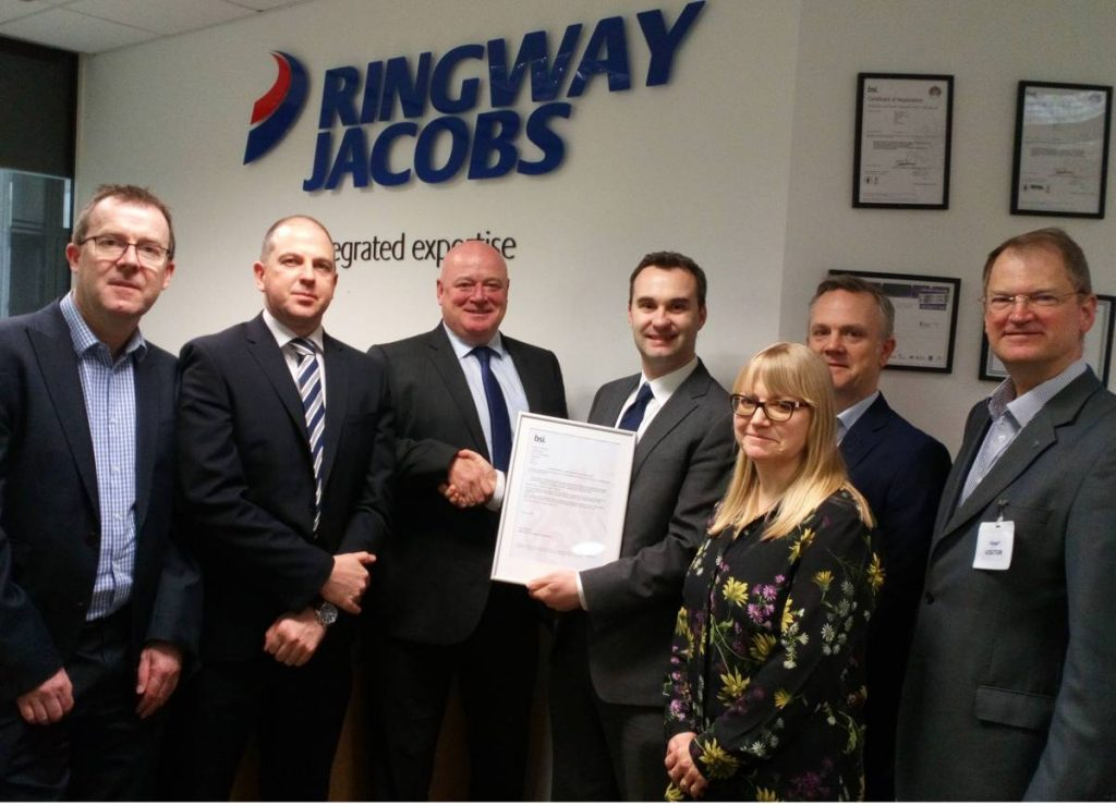Eurovia UK and Ringway Jacobs first business to achieve new safety standard ISO 45001