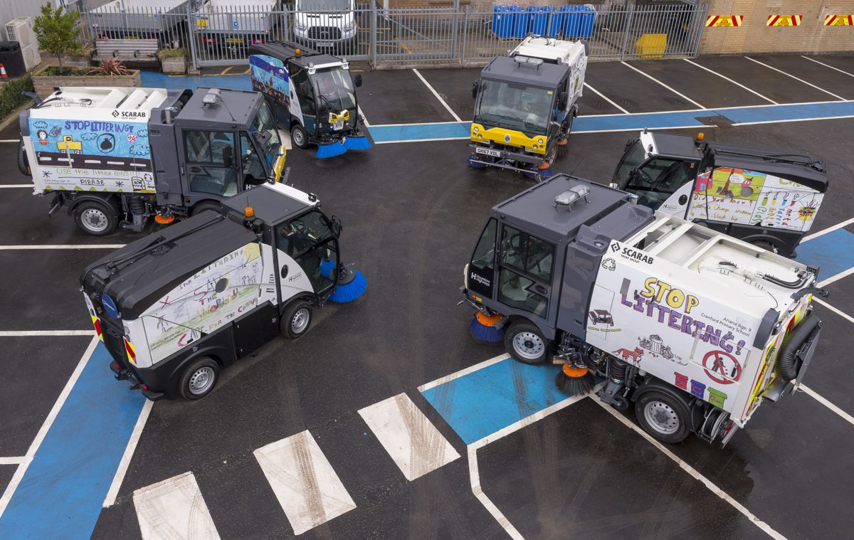 Hounslow Highways Road Sweeper Fleet. Photo by Spencer Griffiths