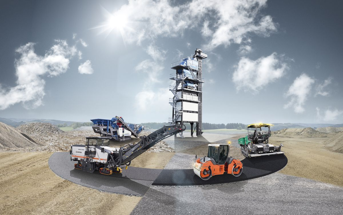 Wirtgen featuring exciting road construction solutions at Intermat 2018