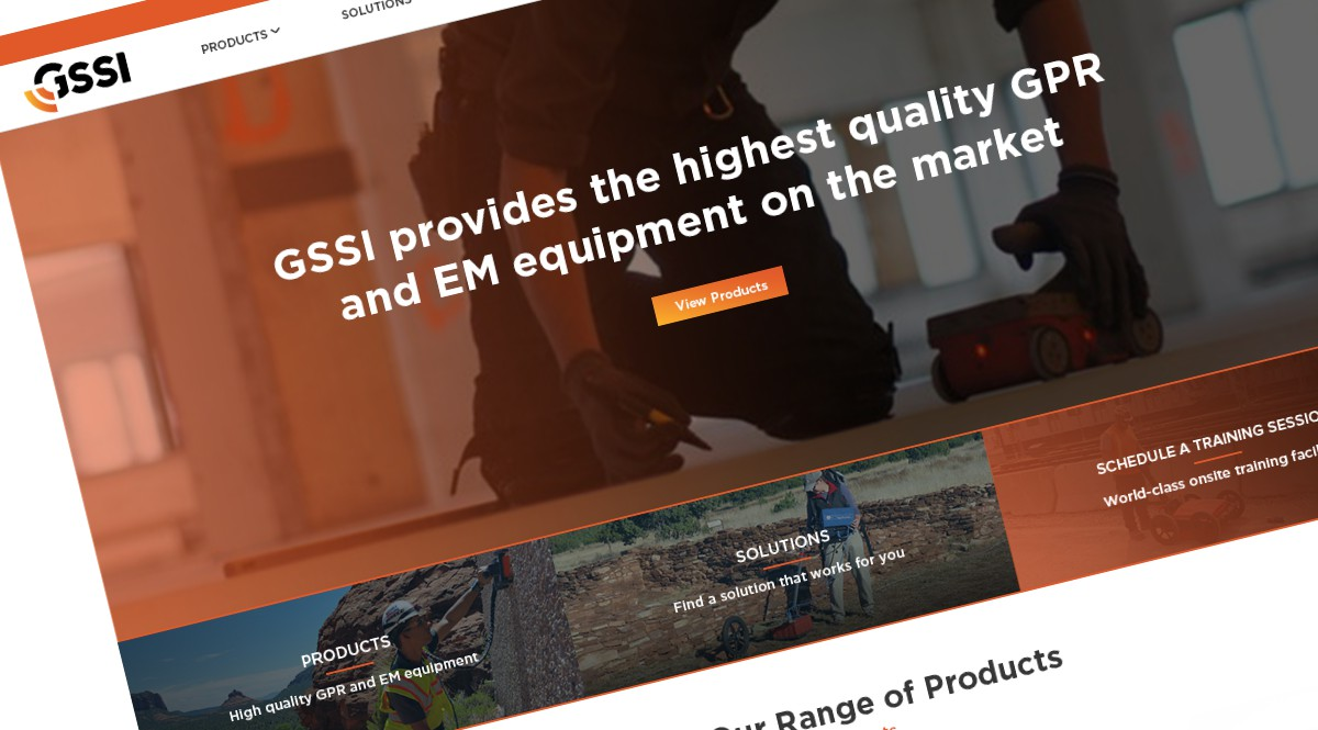 GSSI - Geophysical Survey Systems launches new dynamic website