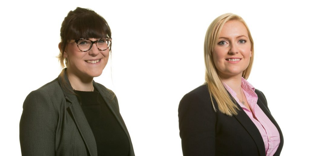 Solicitors Kara Price and Sarah Wales from law firm Womble Bond Dickinson
