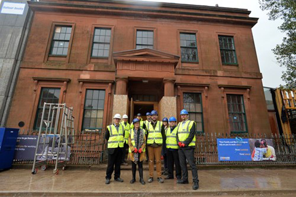 Oliver Mundell MSP, CITB representatives and the Balfour Beatty project team pictured outside the Peter Pan Moat Brae building. Credit: Mark Runnacles Photography