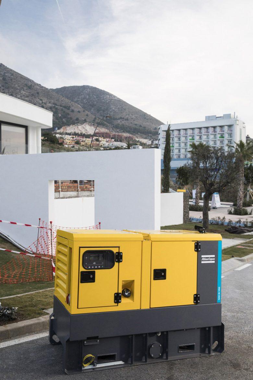 qas 35 vsg mobile diesel generator construction site malaga