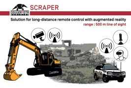 SCRAPER for remote control of construction machines via augmented reality at Intermat