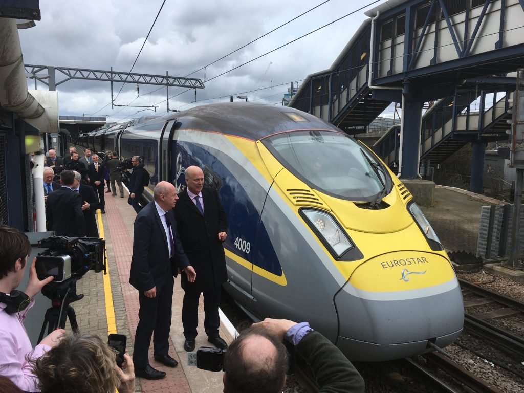 High-speed passenger trains now run from Ashford, UK to Paris