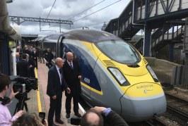 High-speed passenger trains now run from Ashford International to Paris