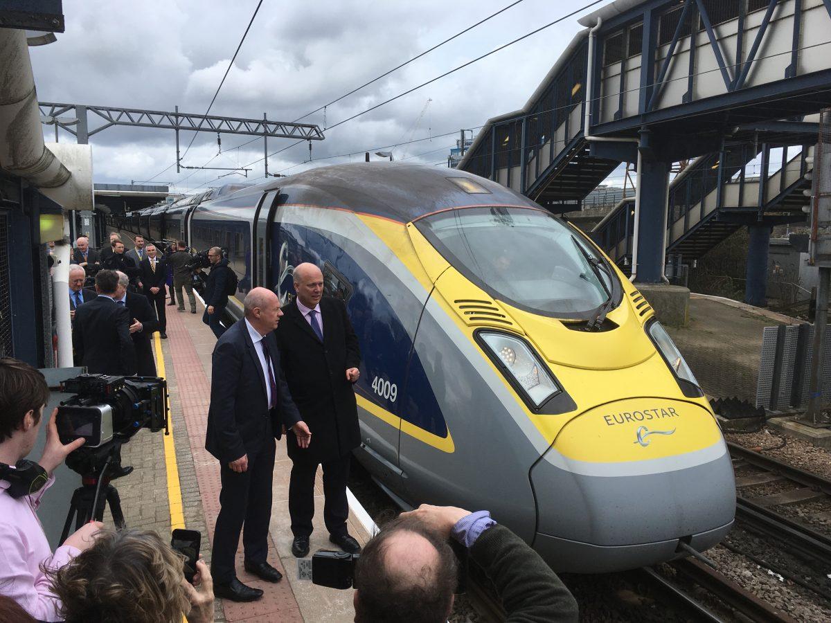 High-speed passenger trains now run from Ashford, UK to Paris