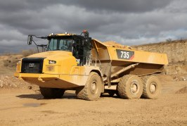 Cat Articulated Trucks redesigned for safety and enhanced operation
