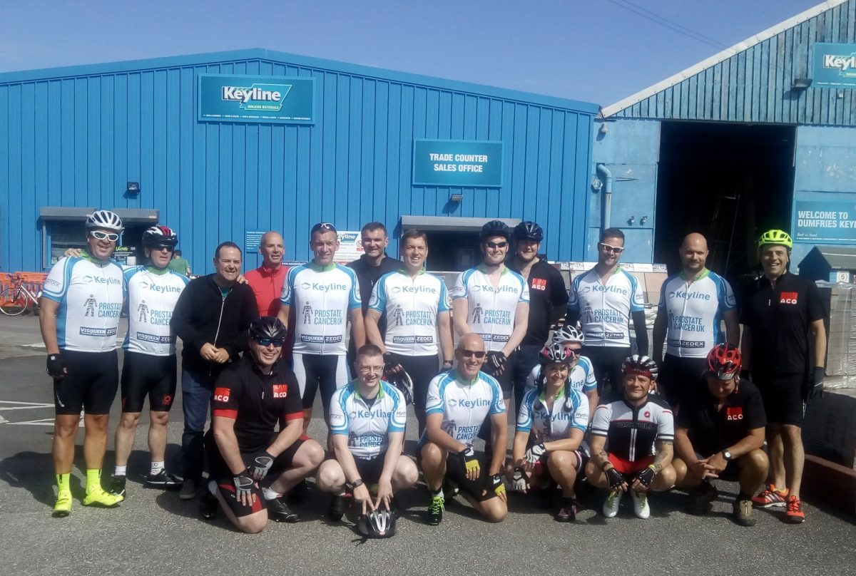 Keyline team uses pedal power to cycle Scotland in aid of Prostate Cancer UK