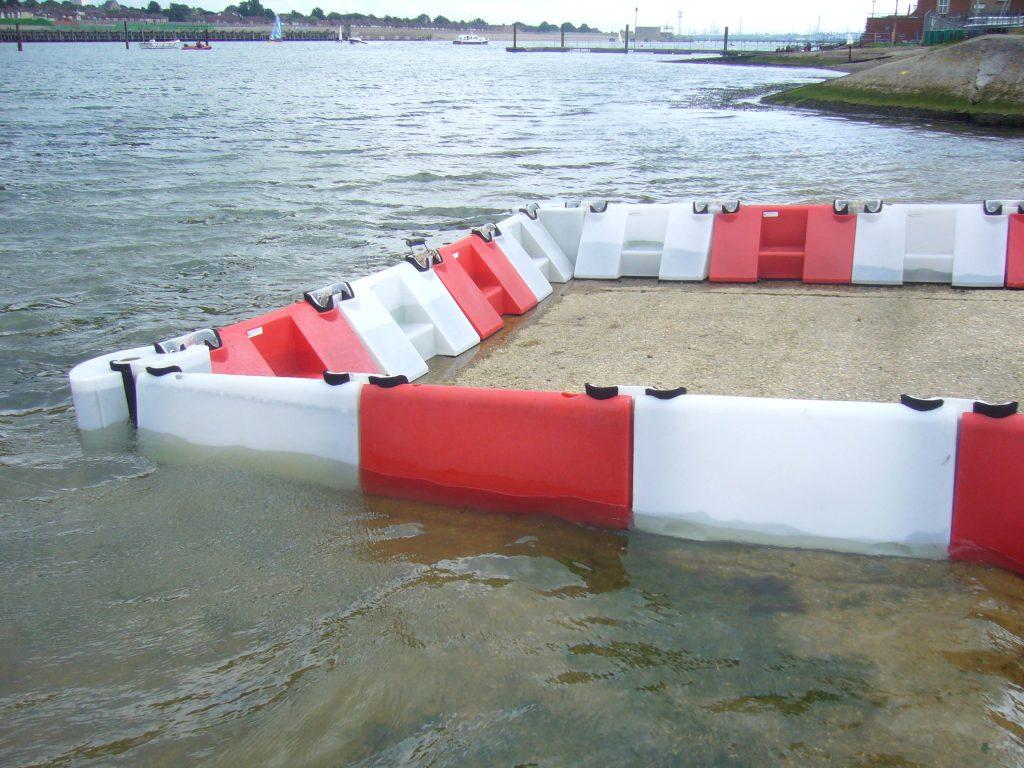 Floodstop flood barrier in action