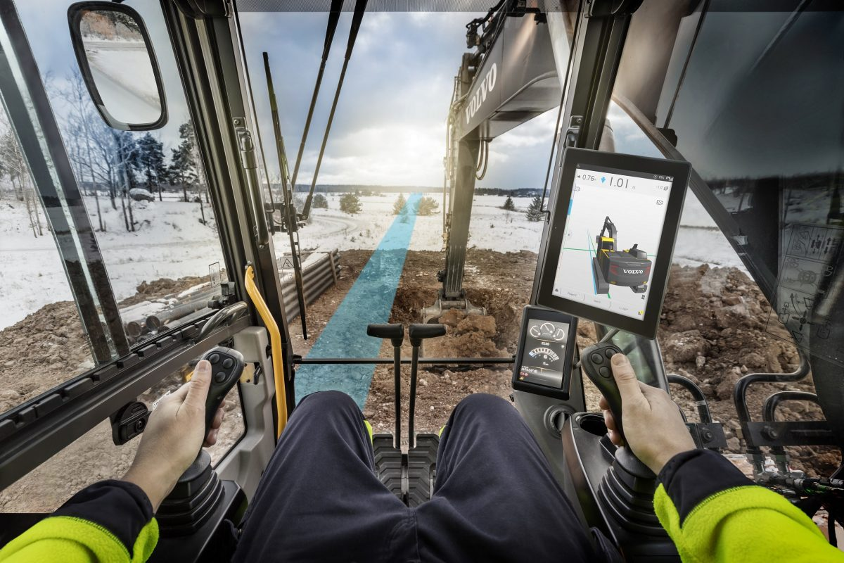 Machine control systems like Volvo DigAssist give operators real-time data