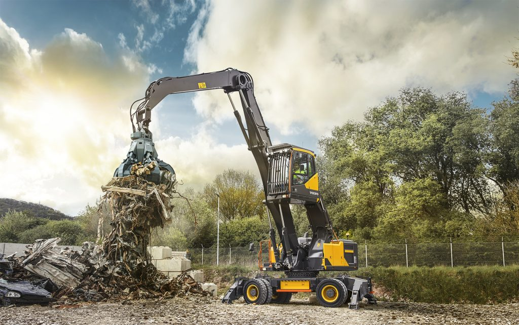 Volvo introduces the EW240E their strongest and most innovative material handler