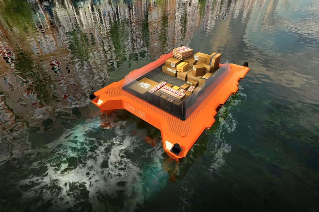 The future of transportation in waterway-rich cities such as Amsterdam, Bangkok, and Venice — where canals run alongside and under bustling streets and bridges — may include autonomous boats that ferry goods and people, helping clear up road congestion.