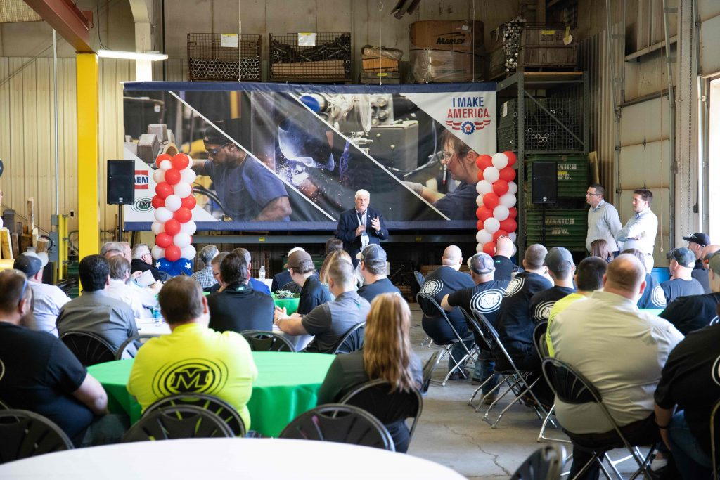 Congressman Bob Gibbs Visits Minnich Manufacturing for AEM I Make America Event